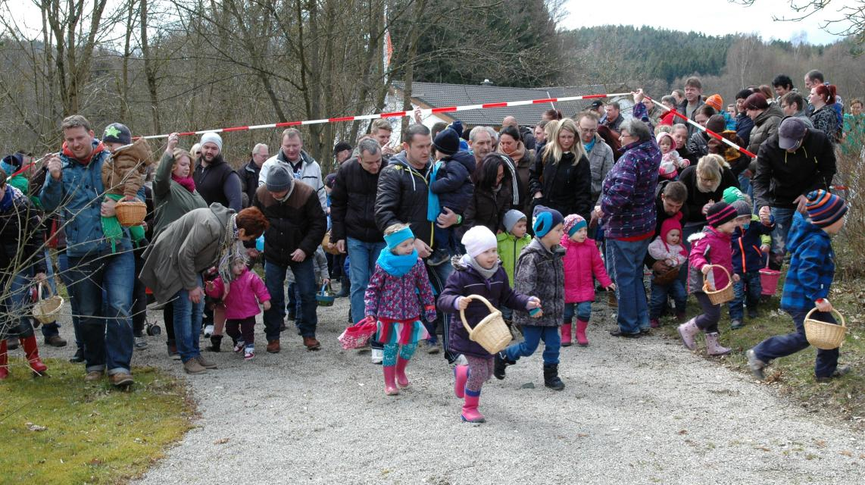 Ostereiersuche am Knock, Obernsees