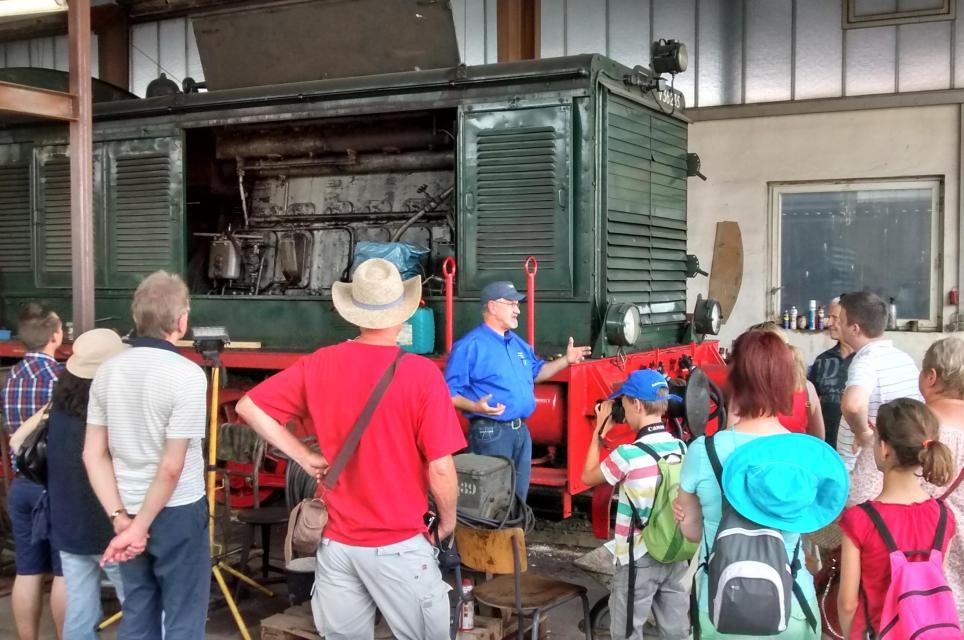 Ein Blick hinter die Kulissen der Dampfbahn
