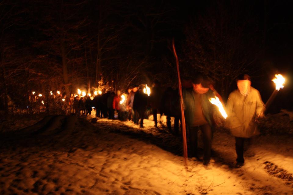 Vollmond-Winterwanderung in Melkendorf