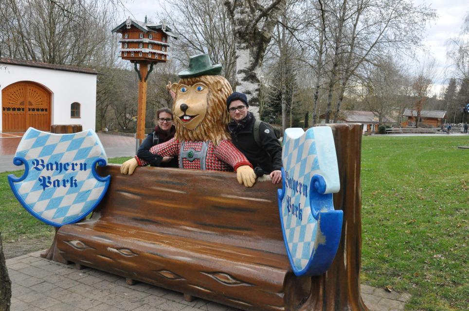 Fahrt in den Bayern-Park