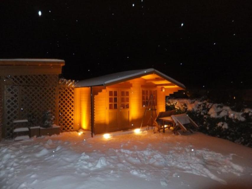 FeWo Fränkisches Paradies - Sauna im Winter - FeWo Fränkisches Paradies - Sauna im Winter