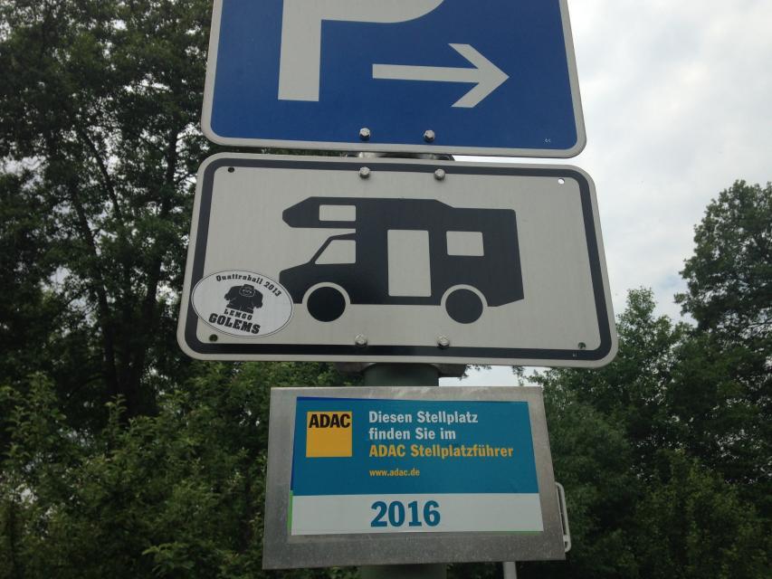 Wohnmobilstellplatz Memmelsdorf Schild - Wohnmobilstellplatz Memmelsdorf Schild