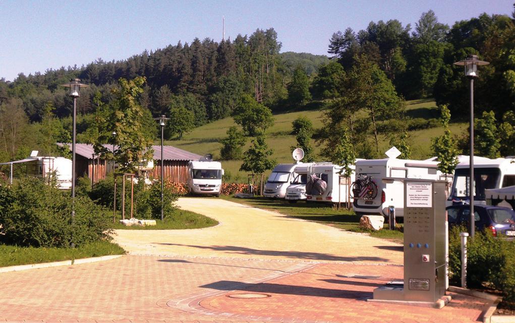 Wohnmobilstellplätze an der Therme Obernsees