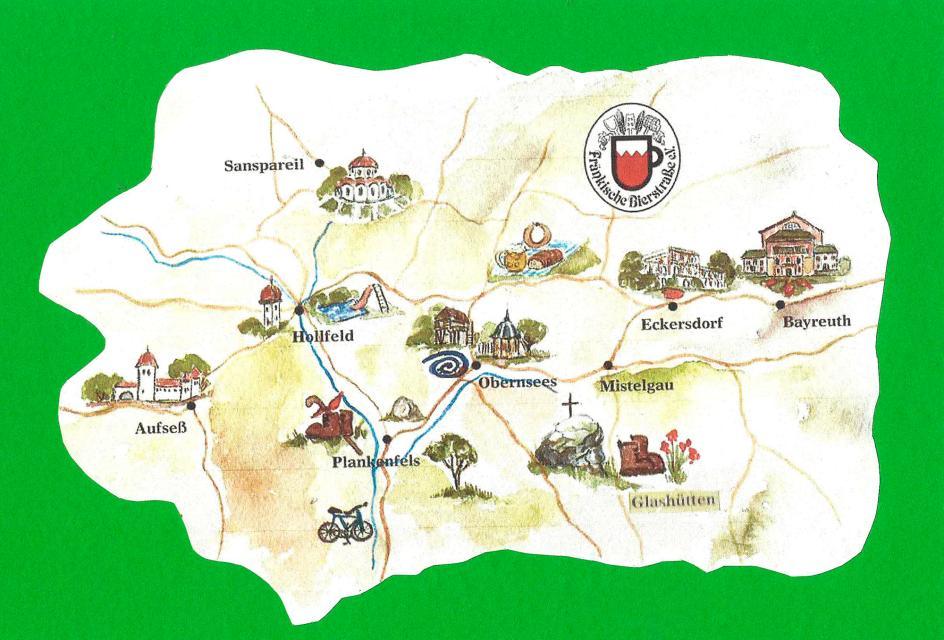 Fränkische Schweiz Karte.Nördliche Fränkische Schweiz