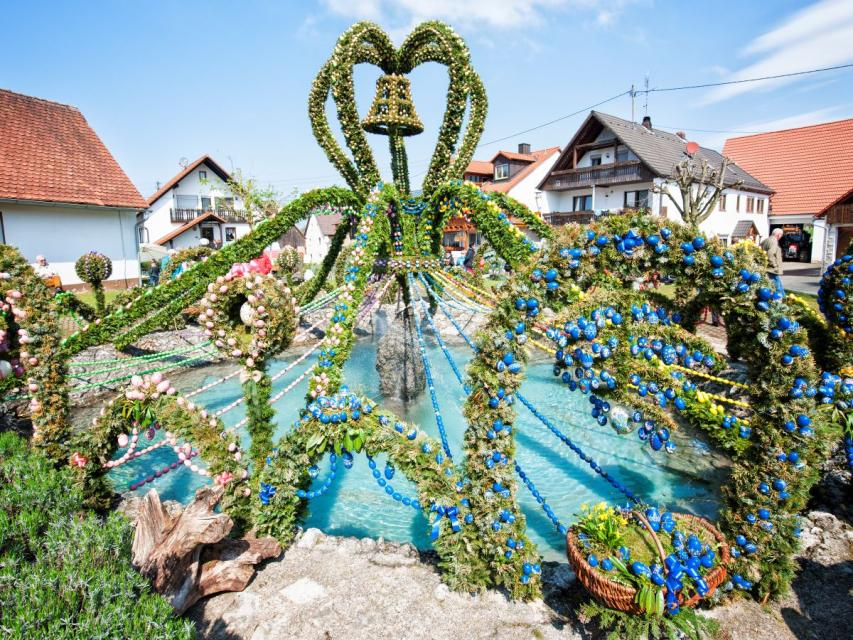 Osterbrunnen in Bieberbach