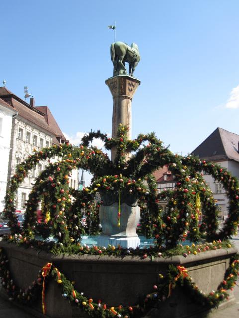 Osterbrunnen in Forchheim