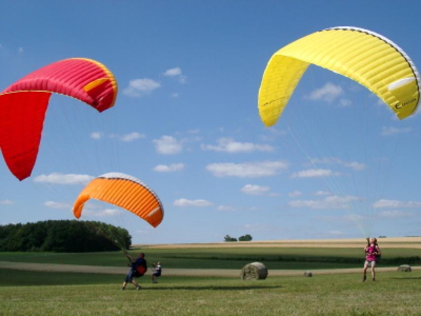 Gleitschirmfliegen und Paragliding bei Pottenstein