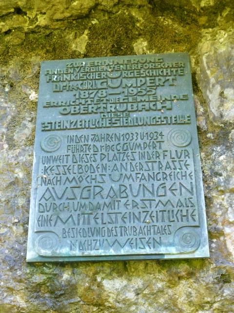 Steinzeitsiedlung in Obertrubach