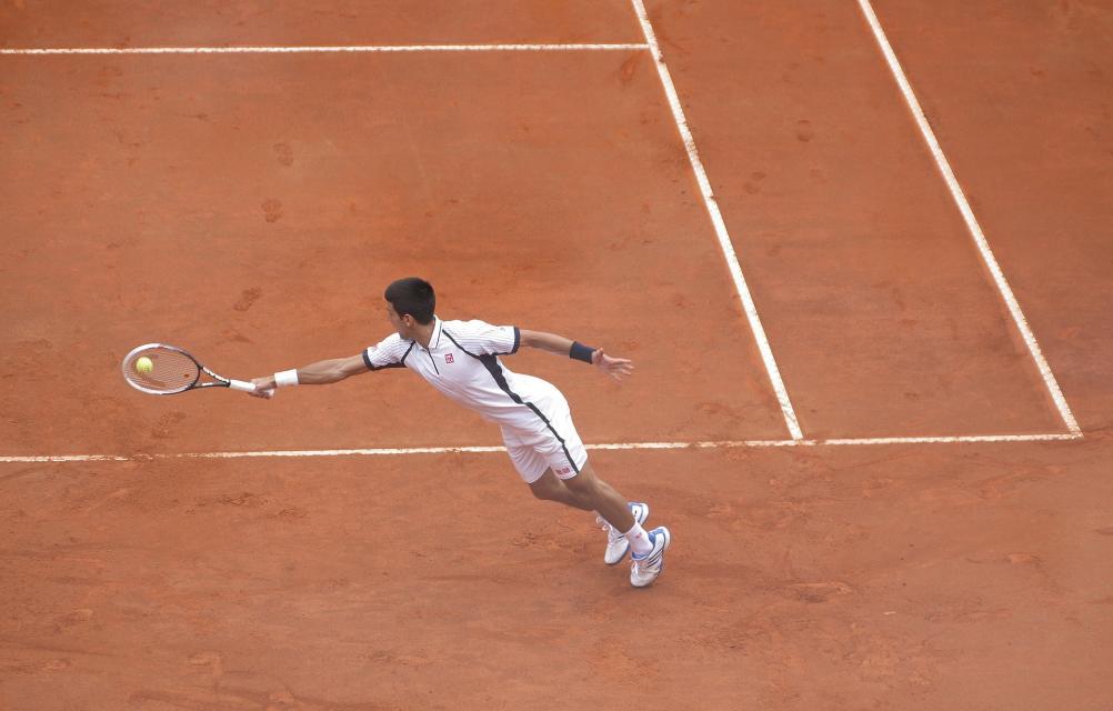 Tennis auf vier Sandplätzen