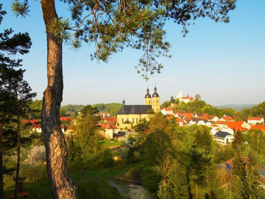 - Blick auf die Basilika und Burg Gößweinstein