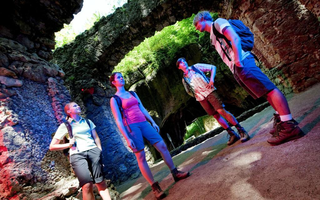 Unterwegs im Felsengarten Sanspareil