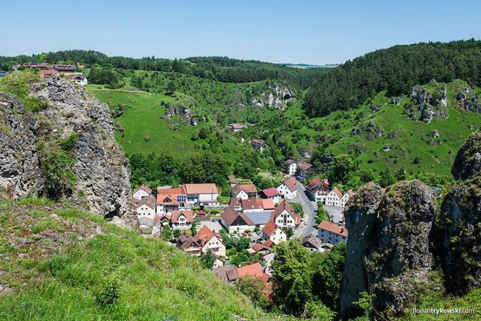 TZ Fränkische Schweiz, Trykowski - Pottenstein Blick auf die Altstadt