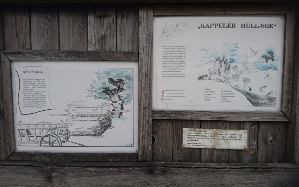 """- Infotafel """"Kappeler Hüllsee"""""""