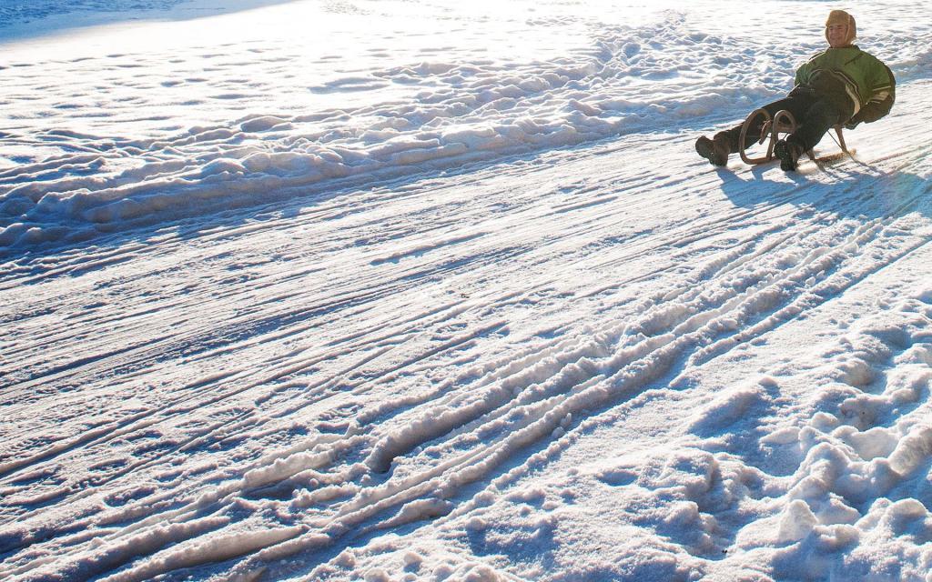 Schlittenhang am Skilift Spies