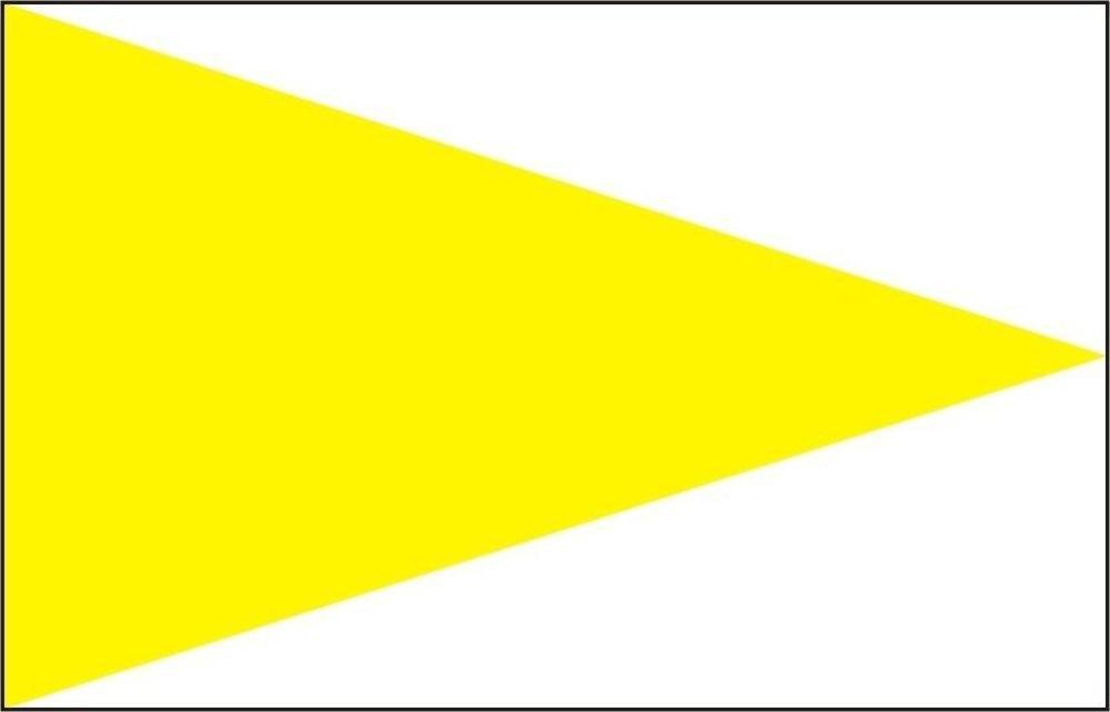 - Markierungszeichen Spitze gelb