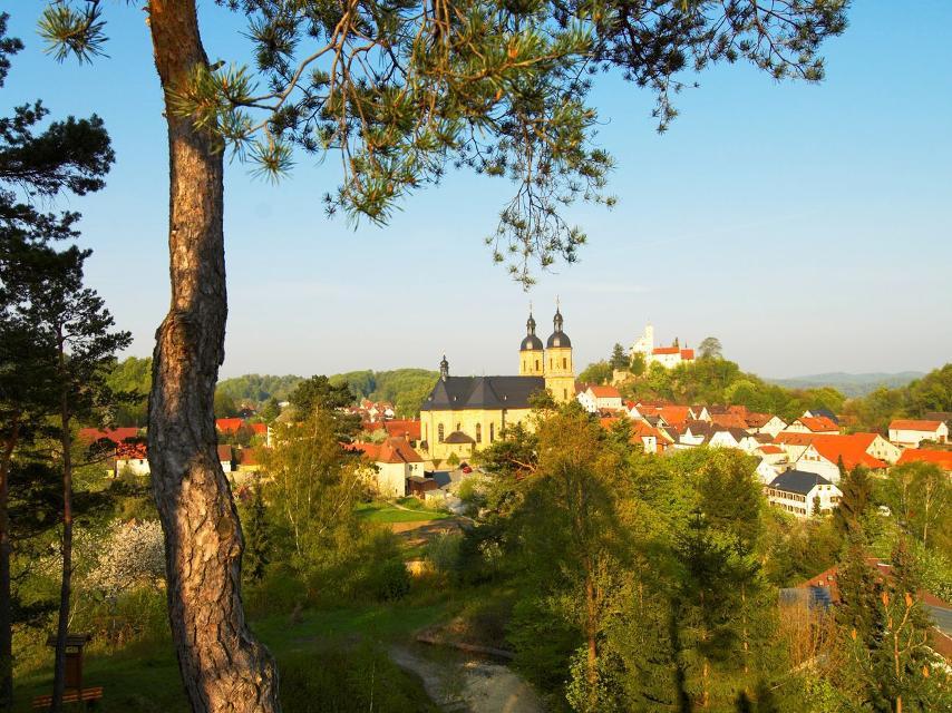 Blick auf die Basilika und Burg Gößweinstein