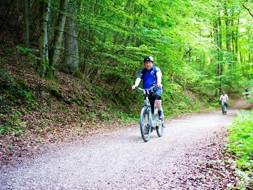 Radfahren auf dem Hochweg Fränkische Schweiz