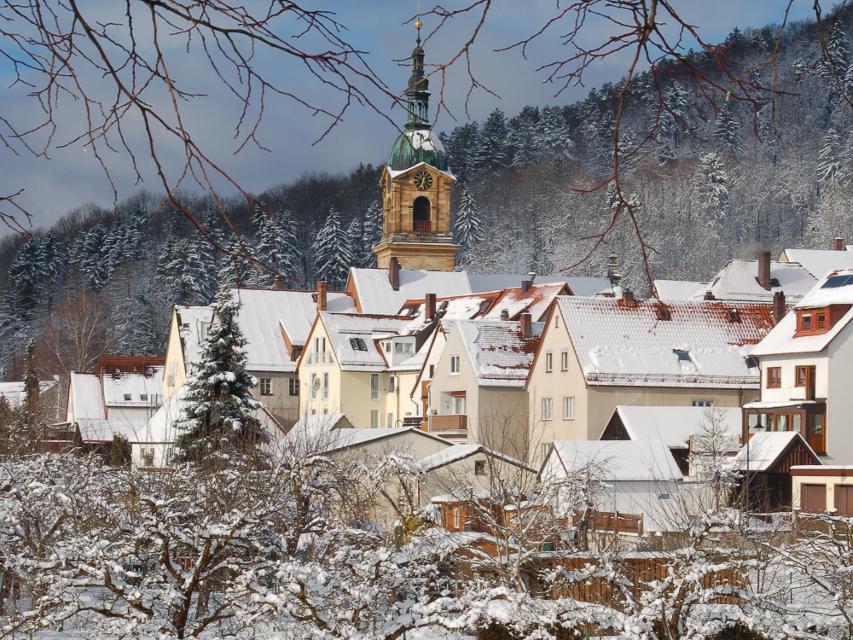 Stadt Pegnitz im Winter