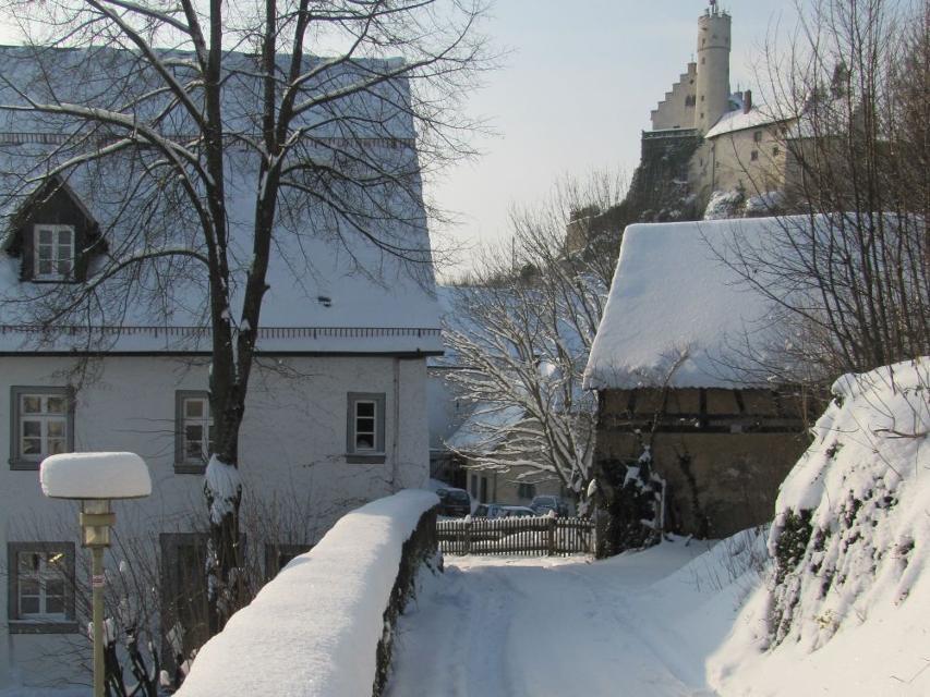 Burg Gößweinstein im Winter