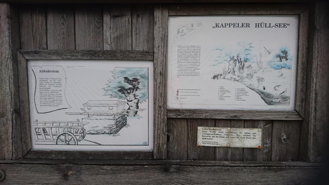 """Infotafel """"Kappeler Hüllsee"""""""