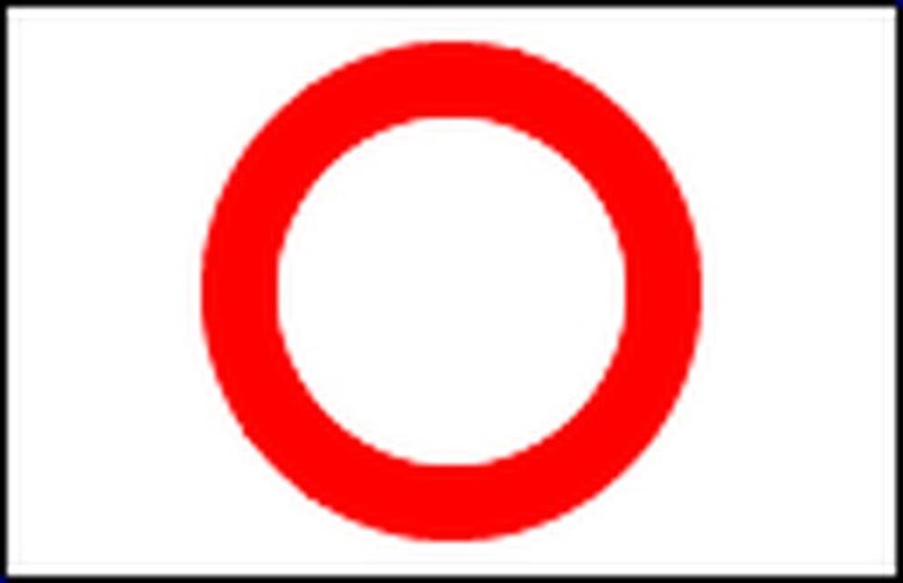 Markierungszeichen Roter Ring
