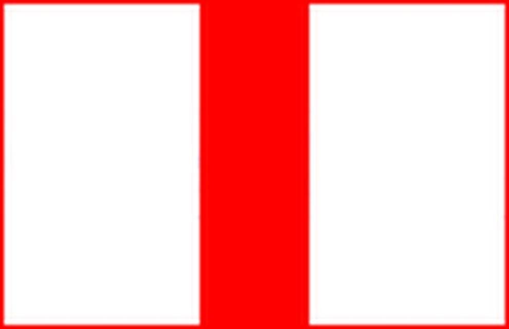 Markierungszeichen Roter Senkrechtbalken