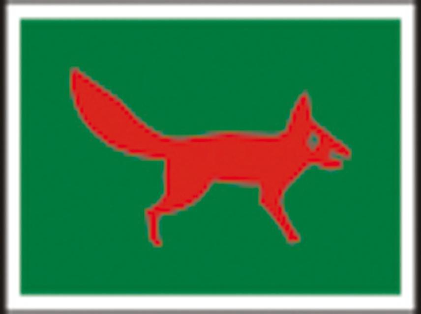 Rot-Fuchs Markierungszeichen