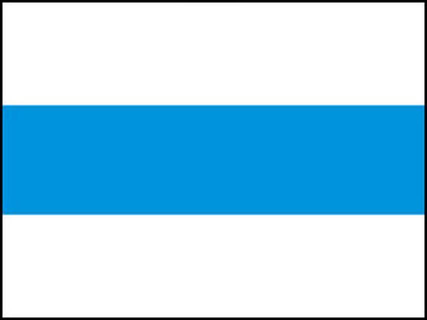 Markierungszeichen Waagrechtstrich blau