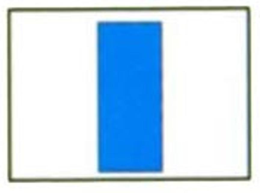 Markierungszeichen Blau-Senkrechtstrich