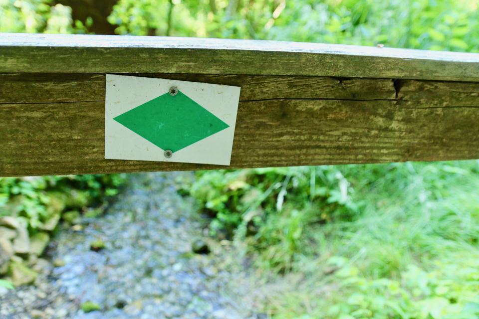 Markierungszeichen Grüne Raute