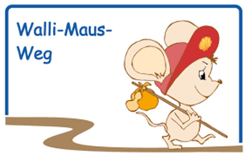 Markierung Walli-Maus-Weg