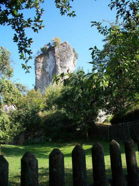 Blick auf Burgruine Bärnfels