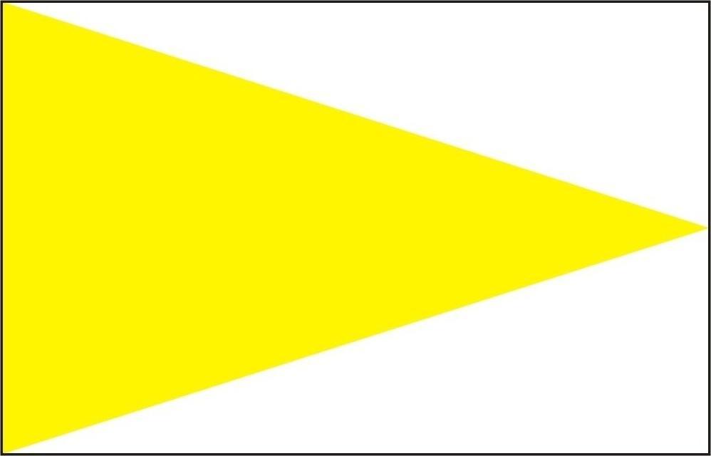 Markierungszeichen Spitze gelb