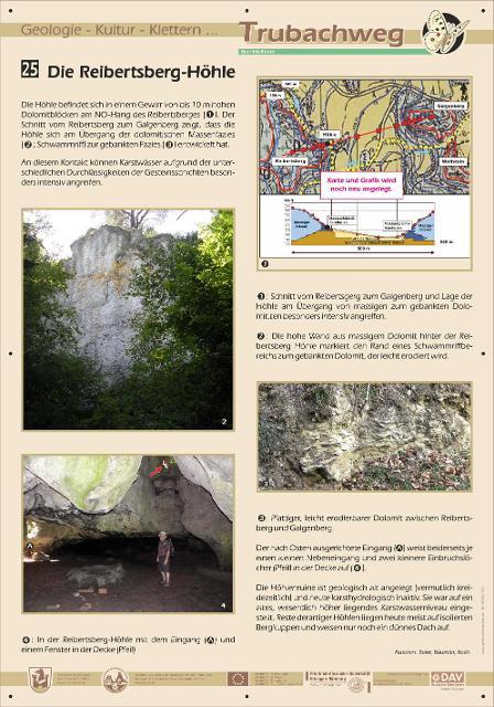 Infotafel Reibertsberg-Höhle