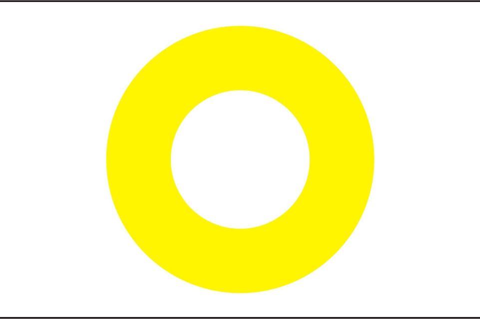 Markierungszeichen Ring gelb