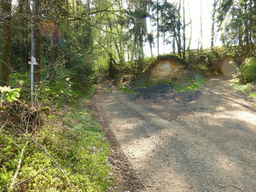 Wegegabelung; Abkürzungsmöglichkeit in Geislareuth