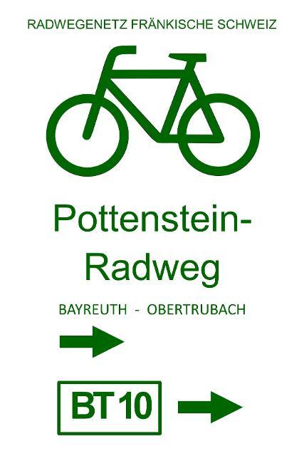 Markierungszeichen Pottenstein-Radweg