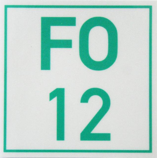 Markierungszeichen FO 12