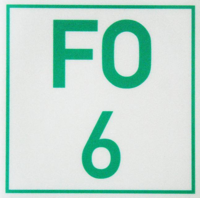 Markierungszeichen FO 6