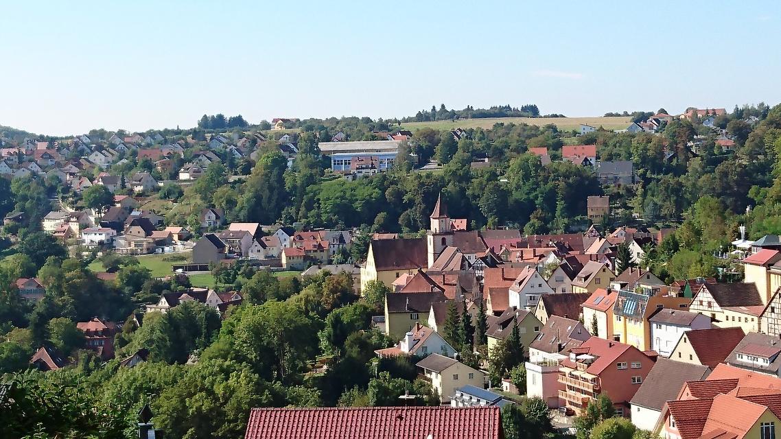 Blick über die Dacher von Gräfenberg