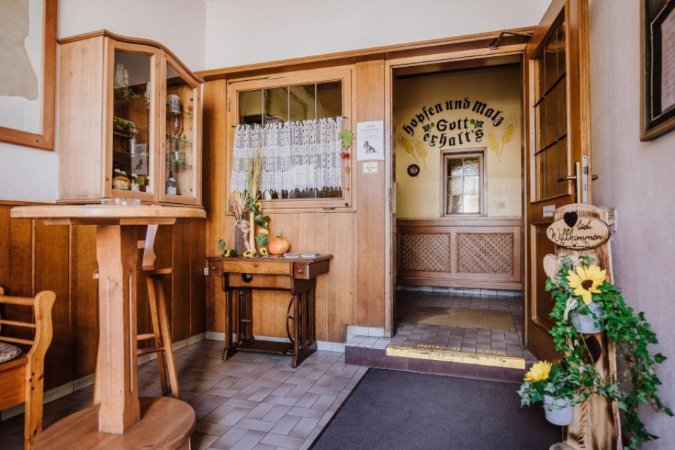 Brauerei Gaststätte Eichhorn Eingangsbereich