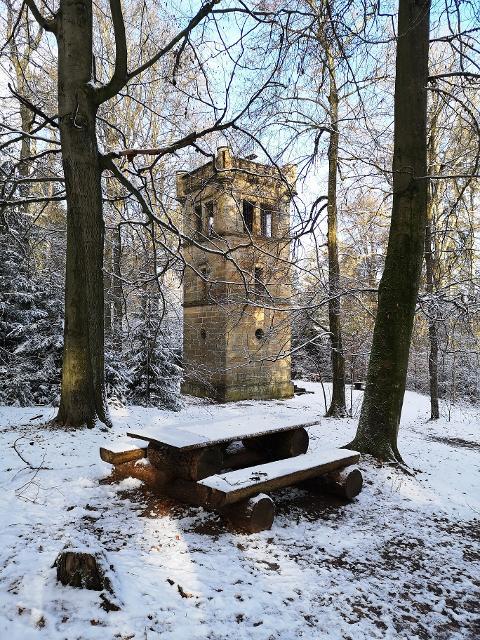 Siegesturm im Winter