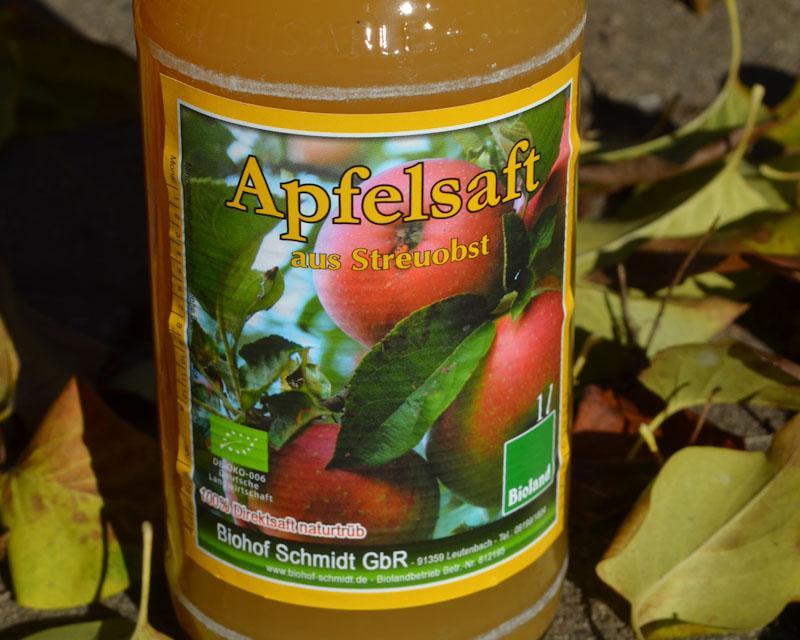 Apfelsaft in Bioqualität