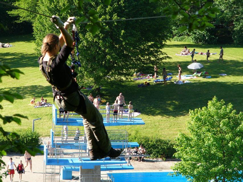 Abenteuerpark Seilbahnparcours
