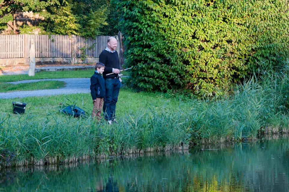 Angler am Schlosspark in Thurnau