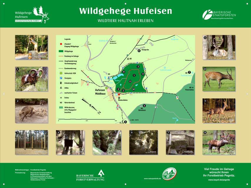 Übersichtsplan Wildgehege Hufeisen