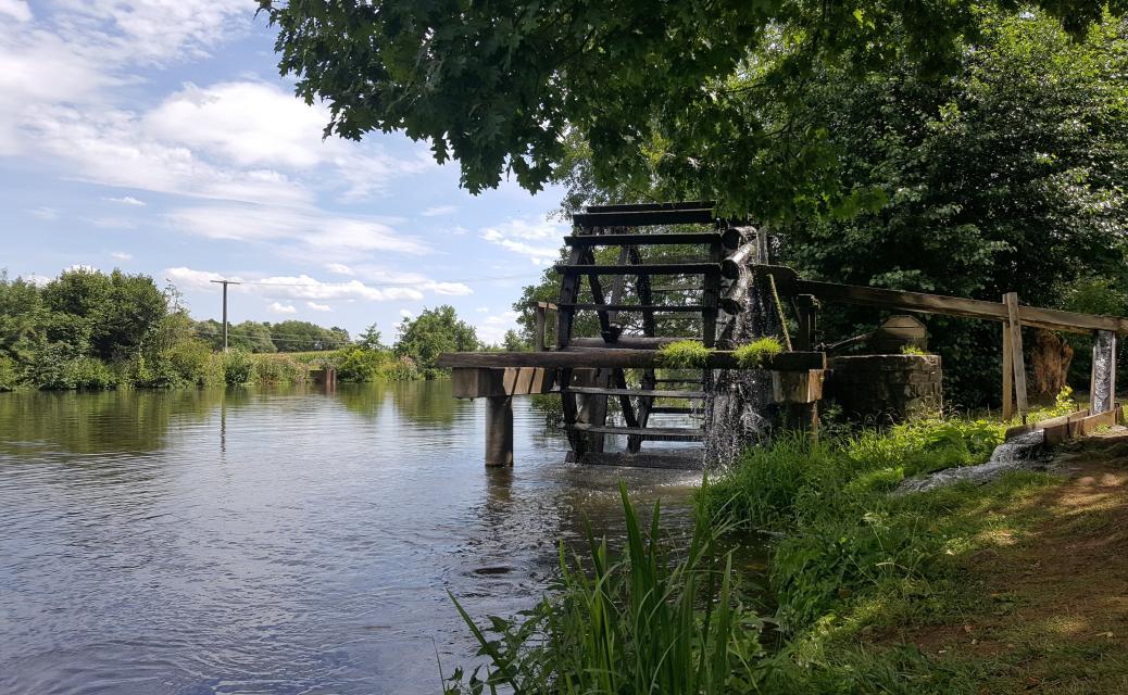Wasserrad in der Regnitz