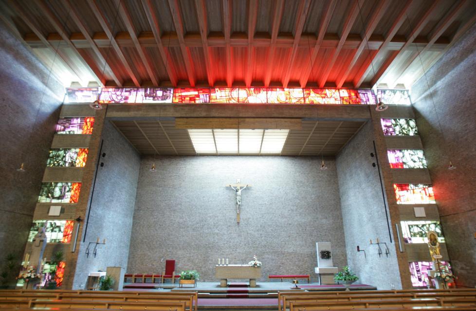 Der Altar in der St. Wolfgangkirche in Hausen