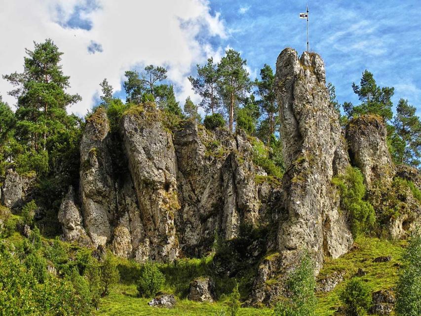 Typische Felsformation in der Fränkischen Schweiz