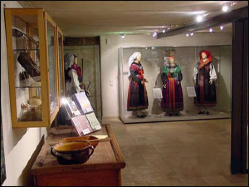 Innenansicht vom Dorfmuseum im Greifenhaus